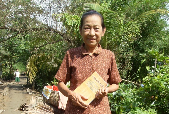 Burmese Christian with Bible