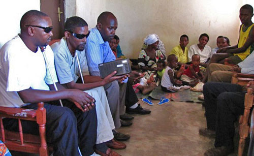 Blind believers in Rwanda receive Proclamer Bible