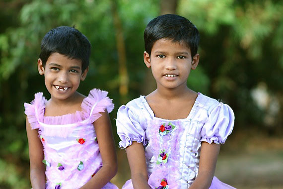 Two more cute orphan girls at the girls orphanage