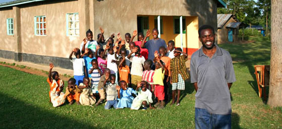 AIDS orphans in Africa at orphanage in Tanzania