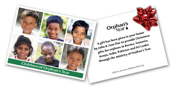 christmas gift cards for orphans
