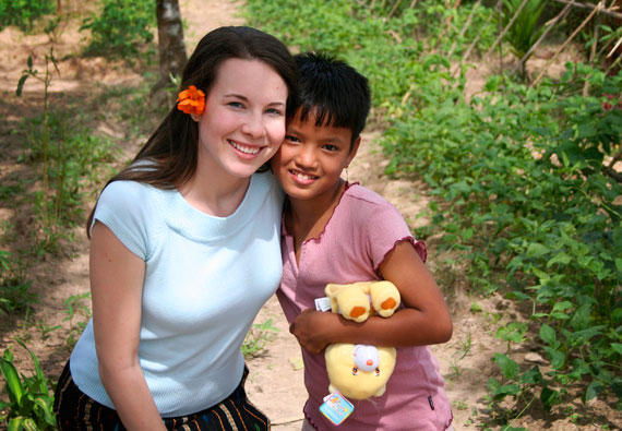 Cute orphan and Charity at one of the orphanages in Burma