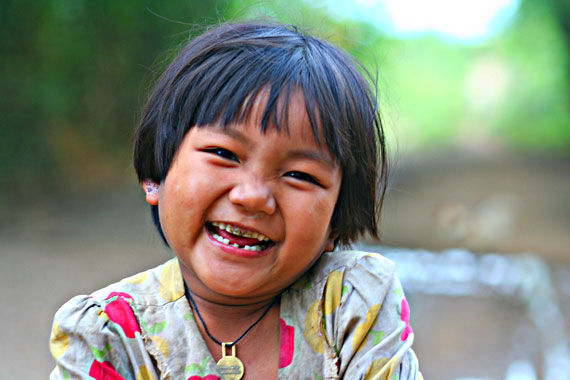 One of the very happy children at a very happy village